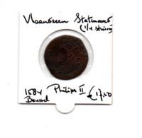 NEDERLAND VLAANDEREN STATENOORD - 1/4 STUIVER 1584 BRUSSEL - [ 5] Monnaies Provinciales