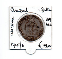 NEDERLAND OVERIJSSEL 1 GULDEN 1725/3 OVERSLAG ZILVER - [ 5] Monnaies Provinciales