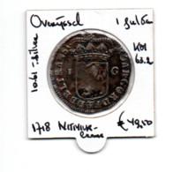NEDERLAND OVERIJSSEL 1 GULDEN 1718 ZILVER - [ 5] Monnaies Provinciales
