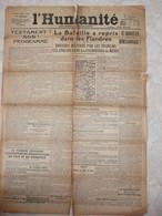 L'humanité Octobre 1918 Journal Socialiste Fondateur Jean Jaures  Journaux Anciens - Andere