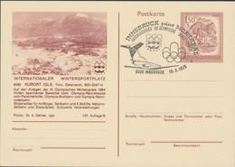 Austria Postal Stationary 1976 Innsbruck Olympic Games - Kurort Igls Posted Innsbruck (G117-26) - Hiver 1976: Innsbruck