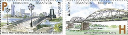 Weissrussland / Belarus / Biélorussie /BIAŁORUŚ 2018 MI.1245-46**,MA.1250-51,YVERT...Europa-Cept. Bridges MNH ** - Belarus