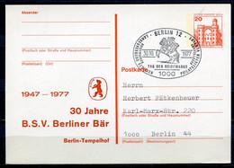 """Germany,Berlin 1977 GS Mit Privaten Zudruck """"Berliner Bär Mi.Nr.P103 Mit SST""""Berlin 12-Tag Der Briefmarke """"1GS Used - Brieven"""