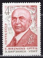 1971 USSR Mi# 3869 E.Birznieks-Upitis MNH ** P15x2 - 1923-1991 USSR