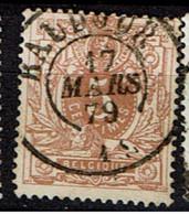 28  Obl  Dc  Baudour  + 4 - 1869-1888 Lion Couché (Liegender Löwe)