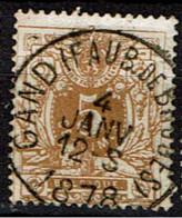 28  Obl  Gand (Faubourg De Bruges)  Nuance  + 4 - 1869-1888 Lying Lion