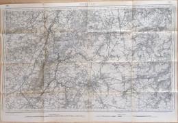 Nivelles, Carte De La Ville 84/58 Cm. - Geographical Maps