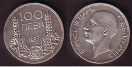 BULGARIA / BULGERIE - 1937 - King Boris - 100 Leva Silver VF - Bulgaria