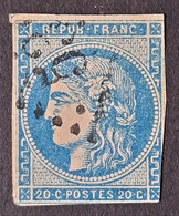 FRANCE - N° 45B Type II Report 2 - Oblitéré (o) Losange Gros Chiffre - 1870 Emissione Di Bordeaux