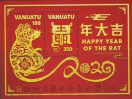 VANUATU, 2020, MNH, CHINESE NEW YEAR, YEAR OF THE RAT, S/SHEET - Chinees Nieuwjaar