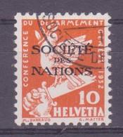 Schweiz Dienstmarke SDN: Zumstein-Nr. 37 (Abrüstung 1932) Gestempelt - Servizio