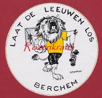 Grote Sticker Autocollant Konininklijke Royal Berchem Sport Football  Voetbal Belgie Belgique Belgian - Sports