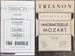 Trianon Programme Cinéma, Charleroi. - Programmes
