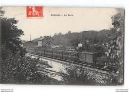 CPA 02 Chalivet La Gare Et Le Train - Altri Comuni