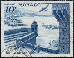Monaco Obl. N° PA 25 - Vue Sur La Ville - Avion - Segnatasse