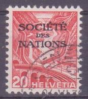Schweiz Dienstmarke SDN: Zumstein-Nr. 51y (Landschaftsbilder Glatte Gummierung 1936) Gestempelt - Servizio