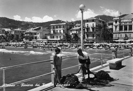 Alassio - Veduta Dal Pontile - Pescatore Con Reti - Savona