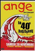 Flyer De La 40eme Rugissante Du Groupe ANGE - Andere