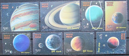 India  2018  Astronomy   Solar System 8 V  MNH - Astronomy