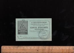 Ticket D'entrée 1937 Foire Agricole Commerciale Industrielle Exposition Comtoise Promenade Chamars BESANCON - Eintrittskarten