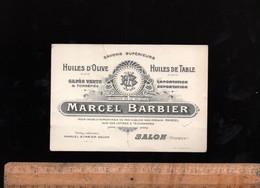 Carte De Visite Grand Format  Huiles D'olive Savons Et Cafés MARCEL BARBIER à SALON DE PROVENCE - Tarjetas De Visita