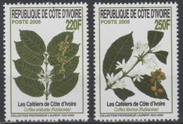 Côte D'Ivoire Ivory Coast 2005 Mi. 1477 - 1478 Plantes Plants Kaffee Coffee Tree Café Caféiers Kaffeepflanze Flora Flore - Other