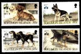 (004) Solomon Isl.  Hong Kong 1994 / Animals / Dogs / Chiens / Hunde  ** / Mnh  Michel 841-84444 - Salomoninseln (Salomonen 1978-...)