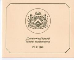 1976, UMM, Independence, Booklet - Transkei