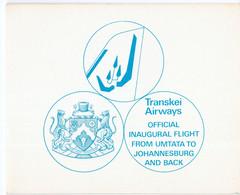 1977, UMM, Transkei Airways, Booklet - Transkei