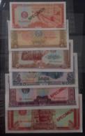 Lot Of 6 Cambodia Cambodge UNC Specimen 0.5 -> 50 Riels Banknote Notes 1979 - RARE / 05 Photo - Cambogia