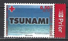 Belgique Yv 3341-cob 3367- Croix-Rouge -Catastrophe Tsunami 2004 ** - Milieubescherming & Klimaat