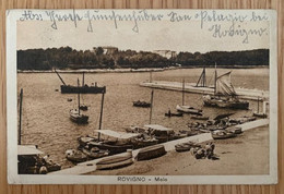 Hrvatska Rovinj Rovigno 1930 Molo Pier čamci Boats - Kroatien