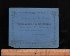 Bon Point écolier : Témoignage De Satisfaction 1895  Ecole Communale De CUISERY Saône Et Loire - Diploma's En Schoolrapporten