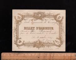 Bon Point écolier : Billet D'Honneur 1896  Ecole Communale De CUISERY Saône Et Loire - Diploma's En Schoolrapporten