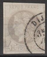 France  : N° 41b - Oblitération Dijon - Très Belles Marges - - 1870 Bordeaux Printing
