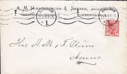 Denmark A.M. HIRSCHSPRUNG & Sønner Tordenskjoldsgade 7, TMS Cds. KØBENHAVN 1916 Cover Brief ASSENS (Arr.) (2 Scans) - 1913-47 (Christian X)