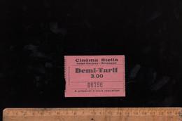 Ticket Billet D'entrée : Place De Cinéma STELLA Saint Ferjeux Besançon C.1930's - Eintrittskarten