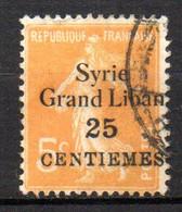 Col17  Colonie  Syrie N° 89 Oblitéré  Cote 1,20€ - Used Stamps