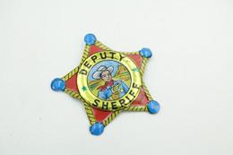 Vintage TIN TOY : Maker Lone Ranger - Cowboy, Sheriff Badge Set Badge 11 - 4 Cm - Japan - 1960's - - Collectors E Strani - Tutte Marche