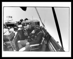 Photo PRESSE - LARRY NEWMAN Entre En Contact Radio Avec Un Boeing De La TWA - Montgolfière - 25,4 X 20,2 Cm Environ - Aviazione