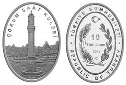 AC - CORUM CLOCK TOWER CLOCK TOWER SERIES # 7 COMMEMORATIVE SILVER COIN TURKEY 2018 PROOF UNCIRCULATED - Coins & Banknotes