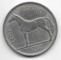 *ireland 1/2 Crown 1955 Km 16a  Vf - Ireland