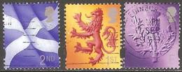 Grande Bretagne - 1999 - Emission Régionale - YT 2106, 2107 Et 2108 Oblitérés - Scozia