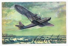 CPA AIR FRANCE Avion - Felicidades Tarjeta - Expédiée D'Argentine - 1919-1938: Between Wars