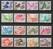 Préoblitéré Yvert N° 146 à 161 - Séries Signes Du Zodiaque Et Champignons - 16 Valeurs Oblitérés - 1964-1988