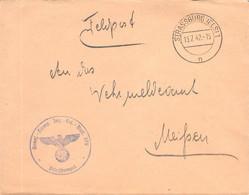 Feld/Dienst Post Strassburg - Meißen 13.7.42 Elsass - Occupation 1938-45
