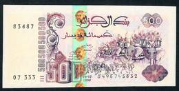 ALGERIA P141b 500 DINNARS 6.10.1998  Signature 2 UNC. - Algeria