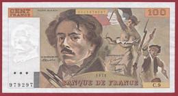 """100 Francs """"Delacroix"""" 1978----ALPH. C.9-- DANS L 'ETAT - 100 F 1978-1995 ''Delacroix''"""