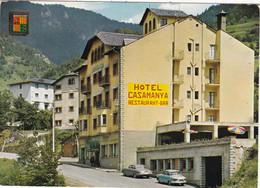 ANDORRE. VALLS D'ANDORRA. CPSM. HOTEL CASAMANYA. VOITURES EN STATIONNEMENT - Andorra