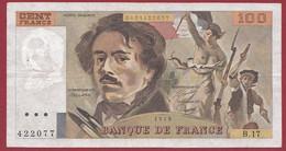"""100 Francs """"Delacroix"""" 1979----ALPH. B.17-- DANS L 'ETAT - 1962-1997 ''Francs''"""